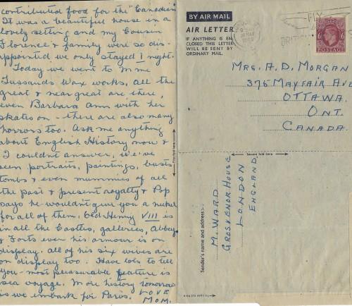 Nana letter 1949