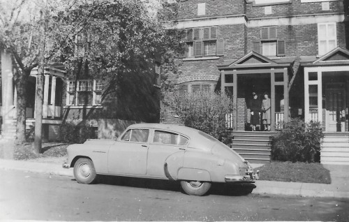 Outside 3429 Beaconsfield Ave c 1942