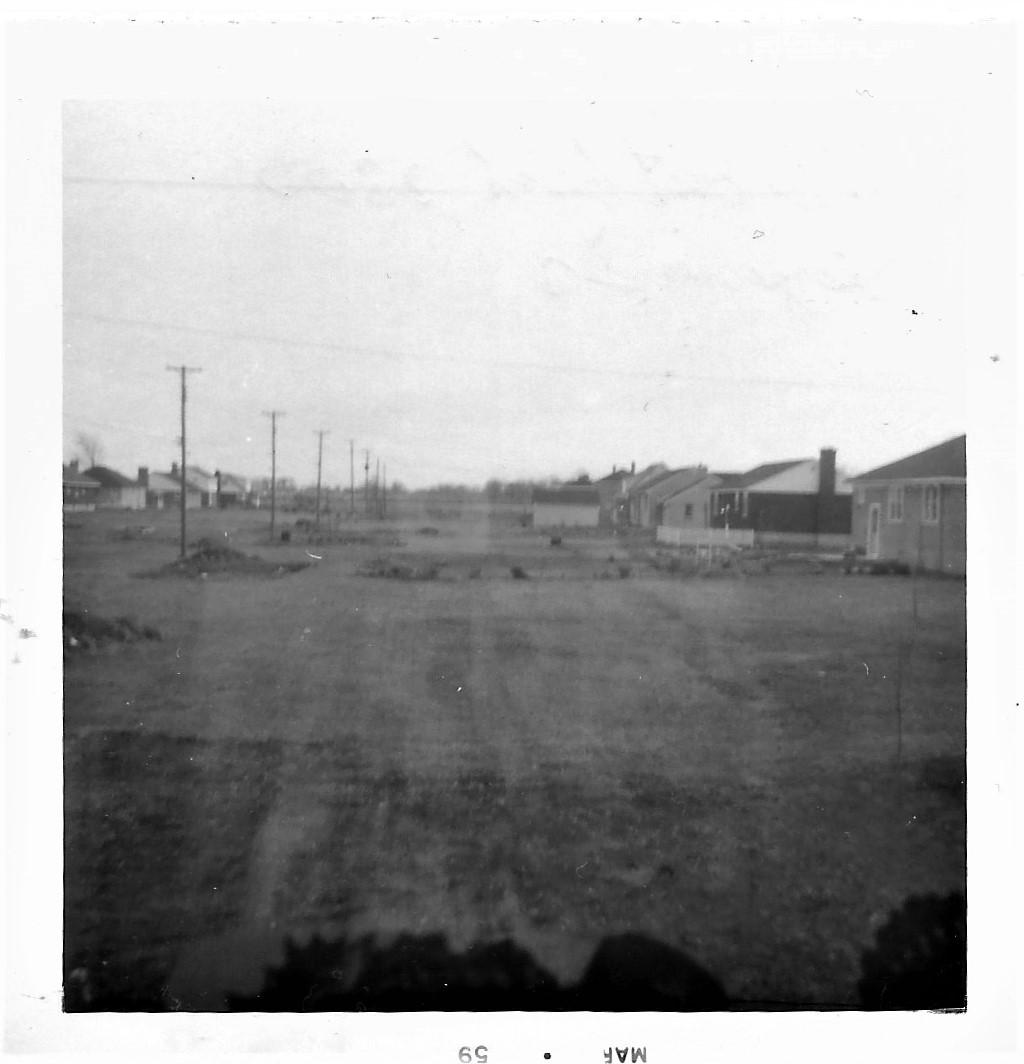 Backyard view 2300 Georgina Dr, May 1959