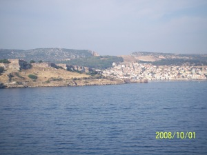Coming into Mytilene, the capital.